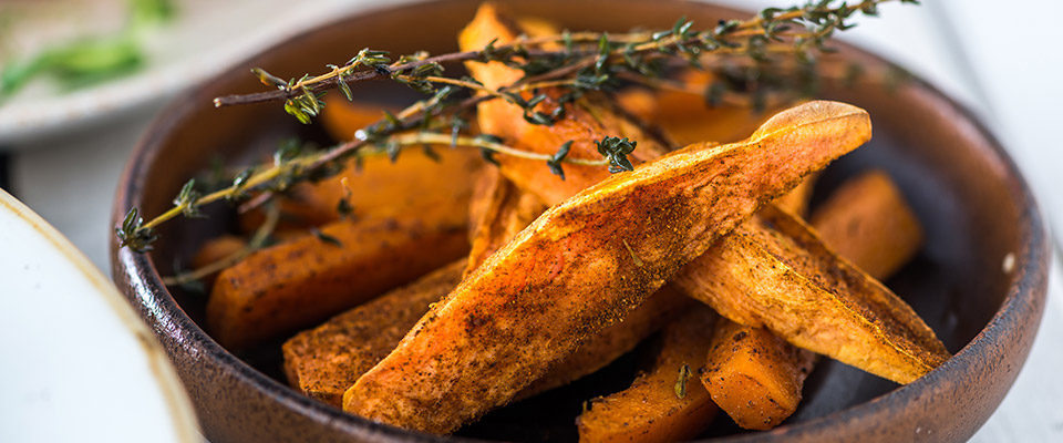 Our sweet potato & butternut squash dish