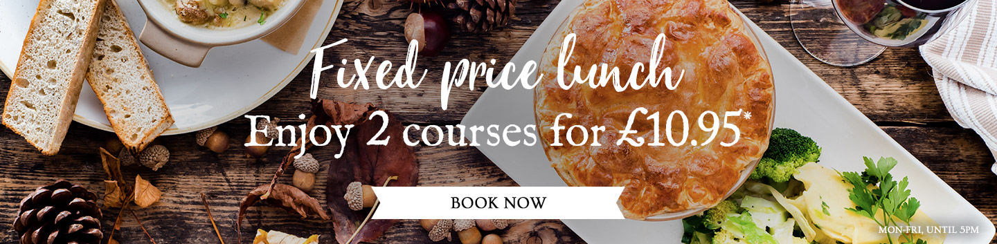 Fixed Price Menus at The Glover Arms