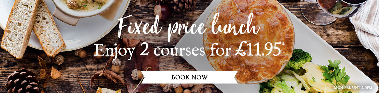 Fixed Price Menus at The Priory