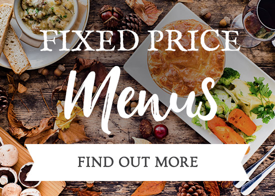 Fixed Price Menus at The Three Jolly Wheelers