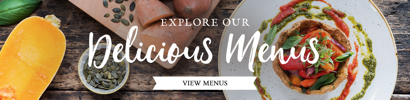 Discover our menus at The Three Horseshoes
