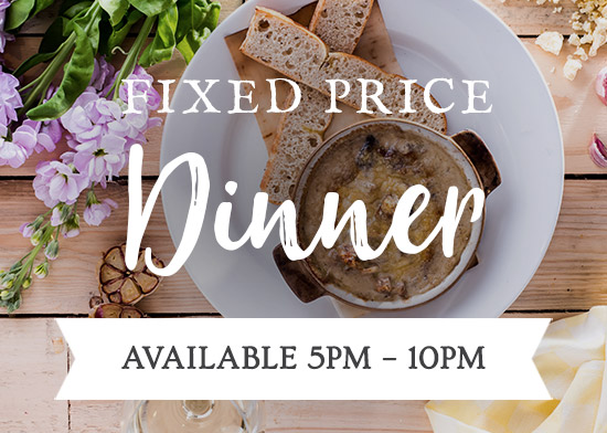 Fixed Price Dinner Menu