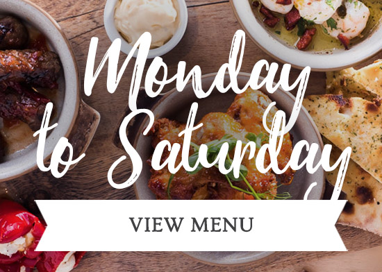 Monday to Saturday Menu