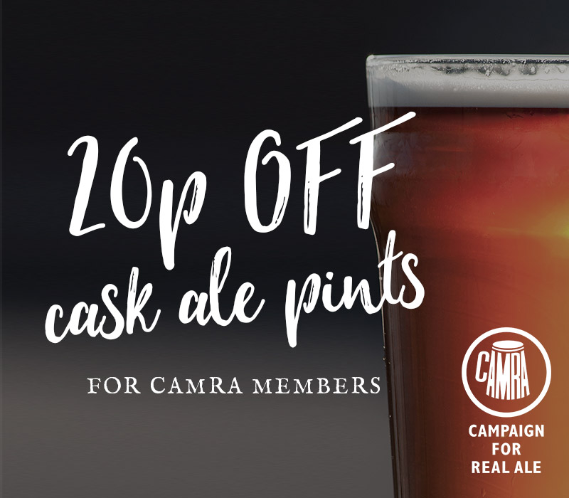 20p Off Cask Ale Pints at Vintage Inns