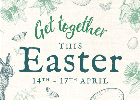 Get together this Easter at The Marsh Harrier