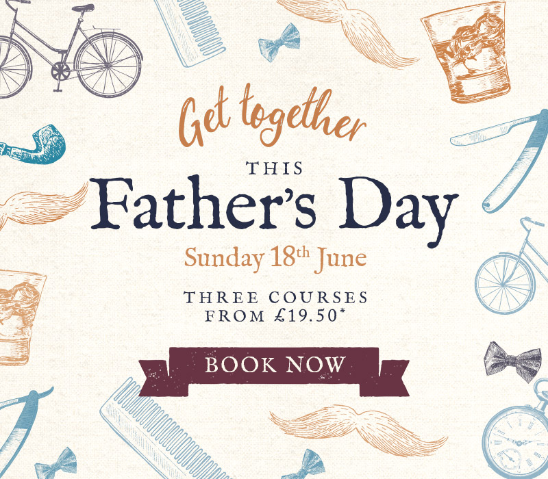 Get together this Father's Day - Book now