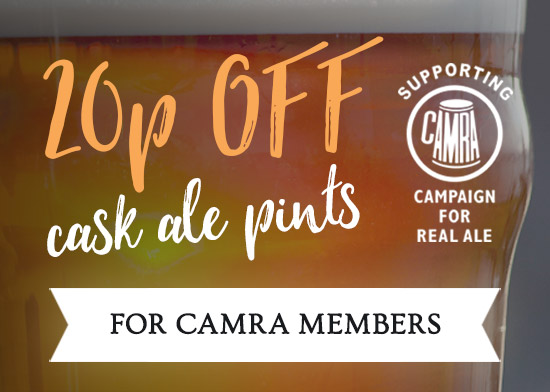 20p off cask ale pints
