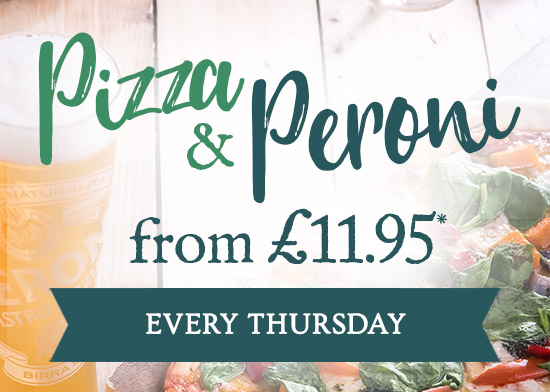 Pizza & Peroni from £11.95 at Vintage Inns