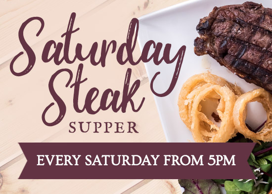 Steak Supper at The Plymouth Arms