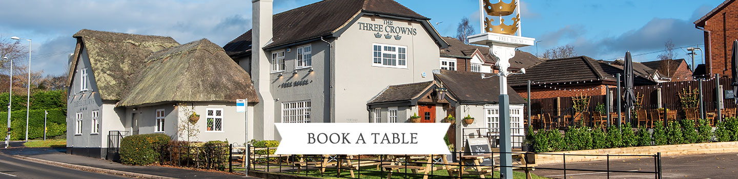 Welcome to The Three Crowns - Your local Vintage Inn