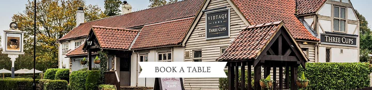 Welcome to The Three Cups - Your local Vintage Inn