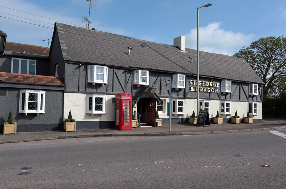 The Saint George and Dragon in Clyst Saint George